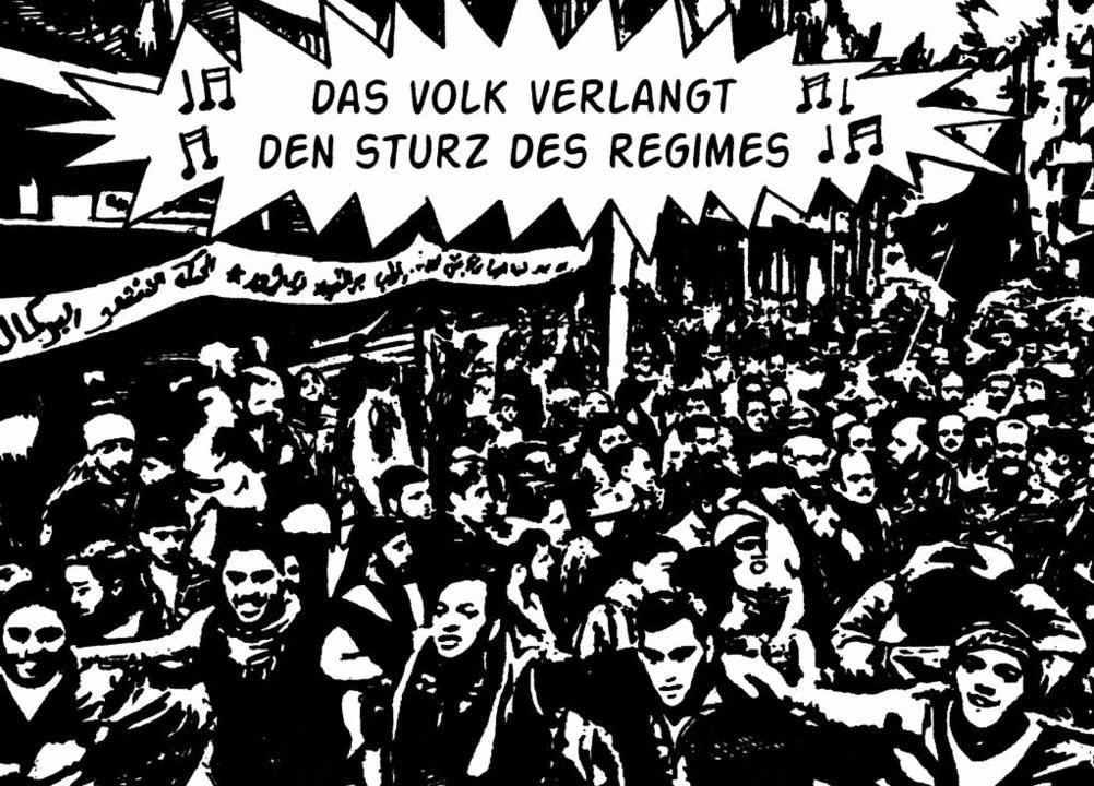 """Die Stimme des Volkes: aus Hamid Sulaimans """"Freedom Hospital""""    Foto: Jeremie Lortic/Hanser Verlag"""