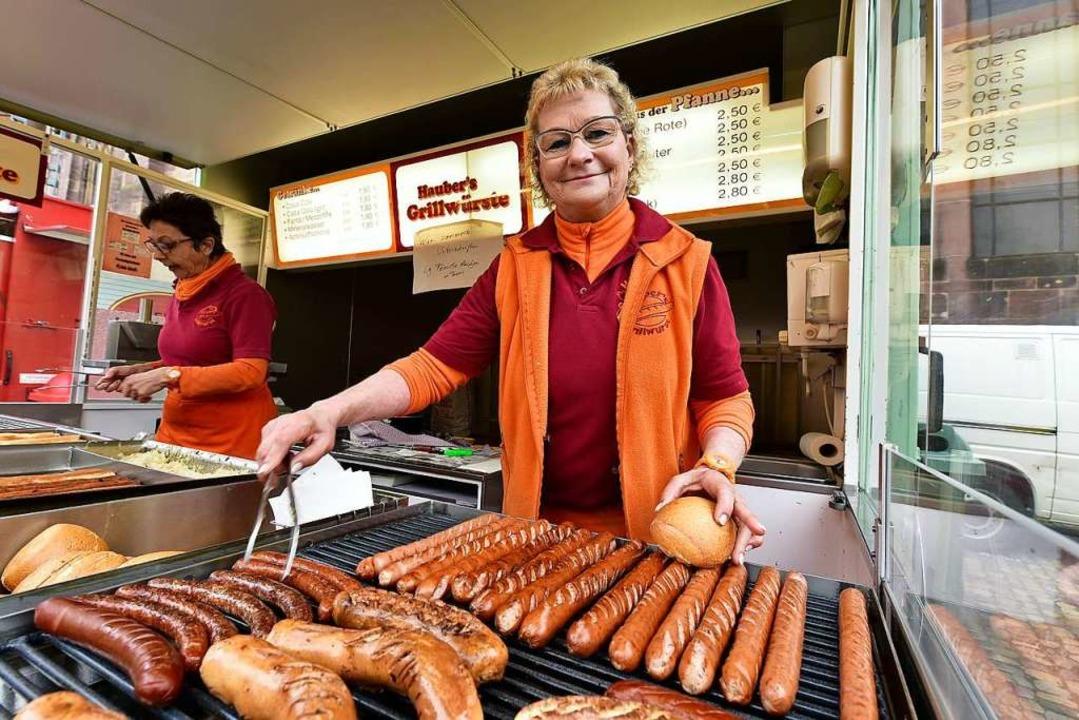 Linda Hauber ist seit 37 Jahre auf dem...werden fünf weitere Jahre dazu kommen.  | Foto: Thomas Kunz