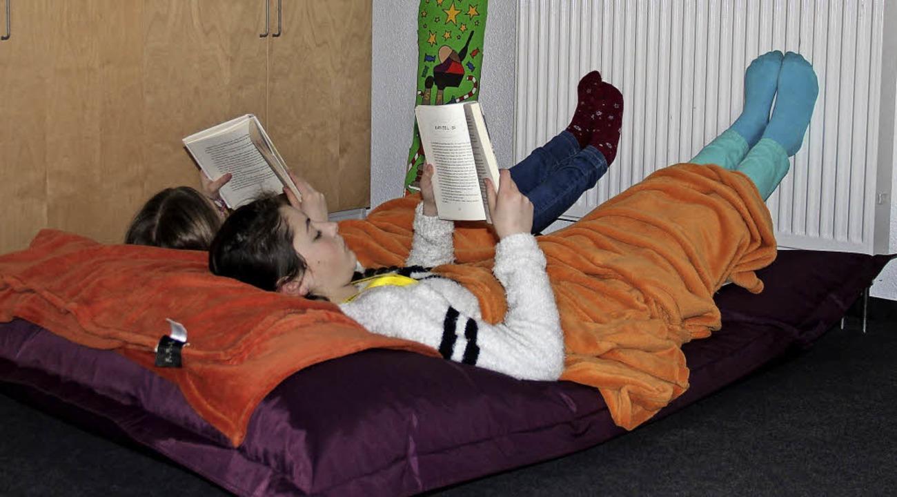 <BZ-FotoAnlauf>Bildungszentrum:</BZ-Fo...zum Beispiel die Leseinsel <ppp></ppp>  | Foto: Schule