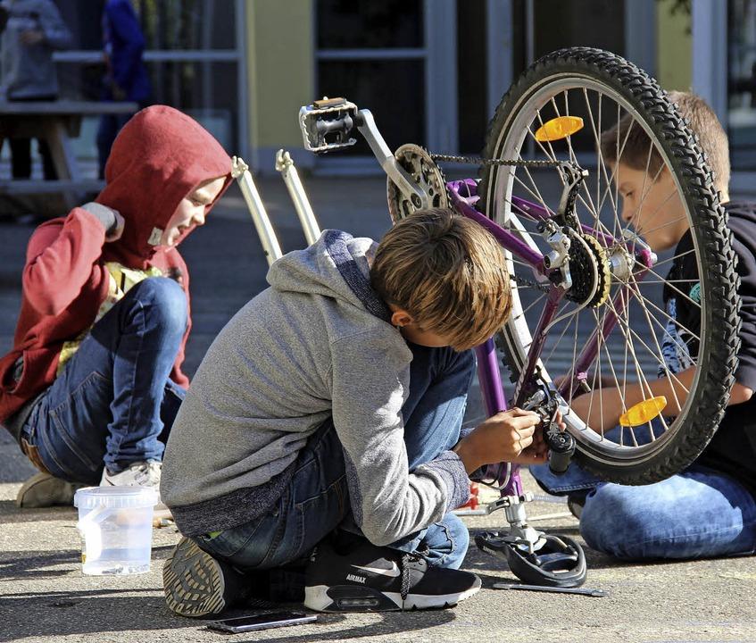 <ppp></ppp> oder die Fahrradwerkstatt   | Foto: Schule