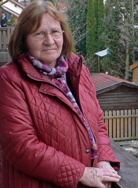 Sie soll die Räumung in ihrem Garten selbst bezahlen: Melitta Meinberger    Foto: Guyton