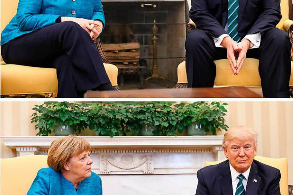Merkel und Trump im Oval Office. (Foto: dpa)