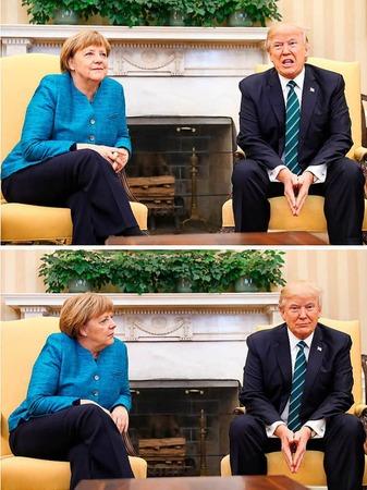 Merkel und Trump im Oval Office.