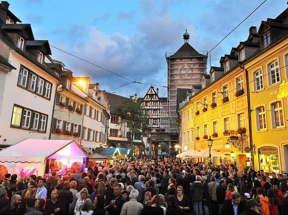 Wie soll Freiburg sich selber feiern – bei einem Straßenfest?  | Foto: Rita Eggstein