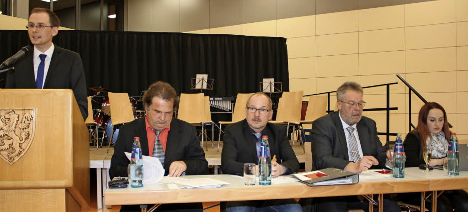Das Präsidium des Blasmusikverbands Ho...ftführerin Carolin Müller (von links).  | Foto: Martha Weishaar