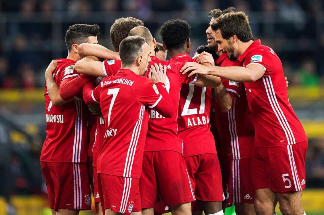 Jubel bei Bayern München  | Foto: dpa
