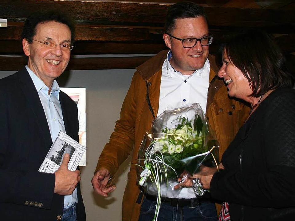 Holger Knöferl, stellvertretender BZ-C...) und Lebensgefährtin Susanne Büchold.  | Foto: Marlies Jung-Knoblich