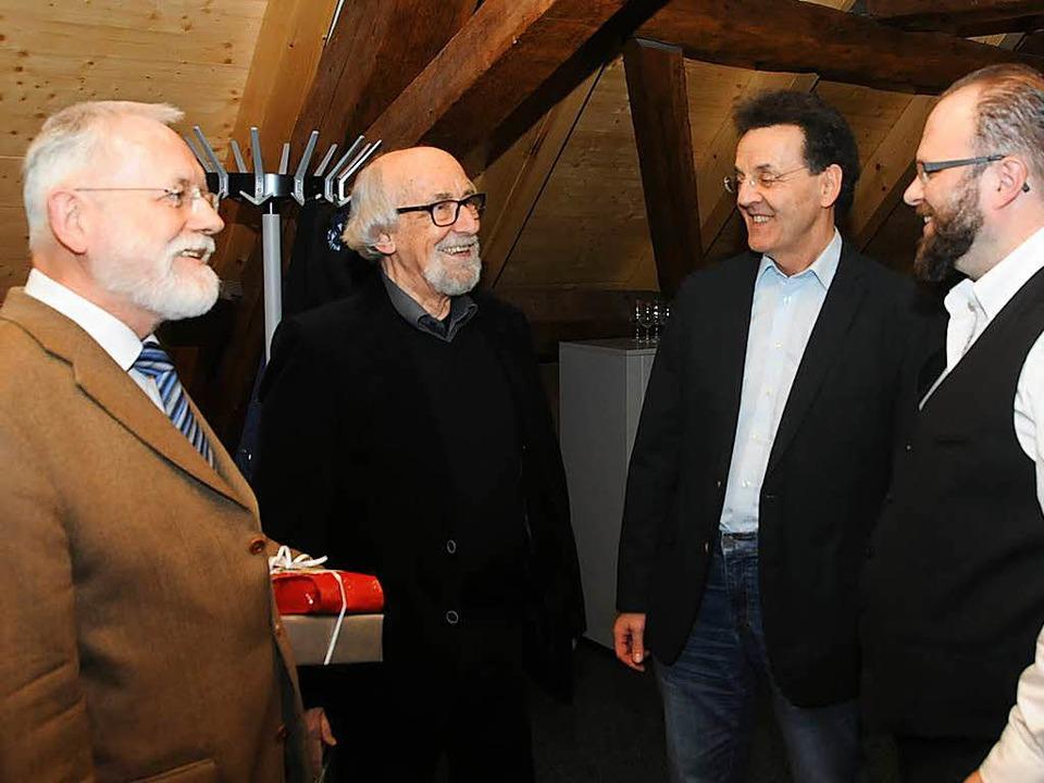 Schopfheims Beigeordneter Ruthard Hirs...ann Jacob und André Hönig (von links).  | Foto: Robert Bergmann
