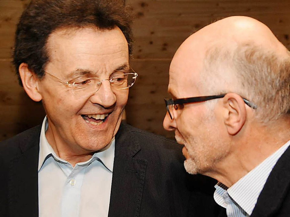 Schulkameraden: Hermann Jacob und Konrektor Hermann Lederer (Morz, Zell)  | Foto: Robert Bergmann
