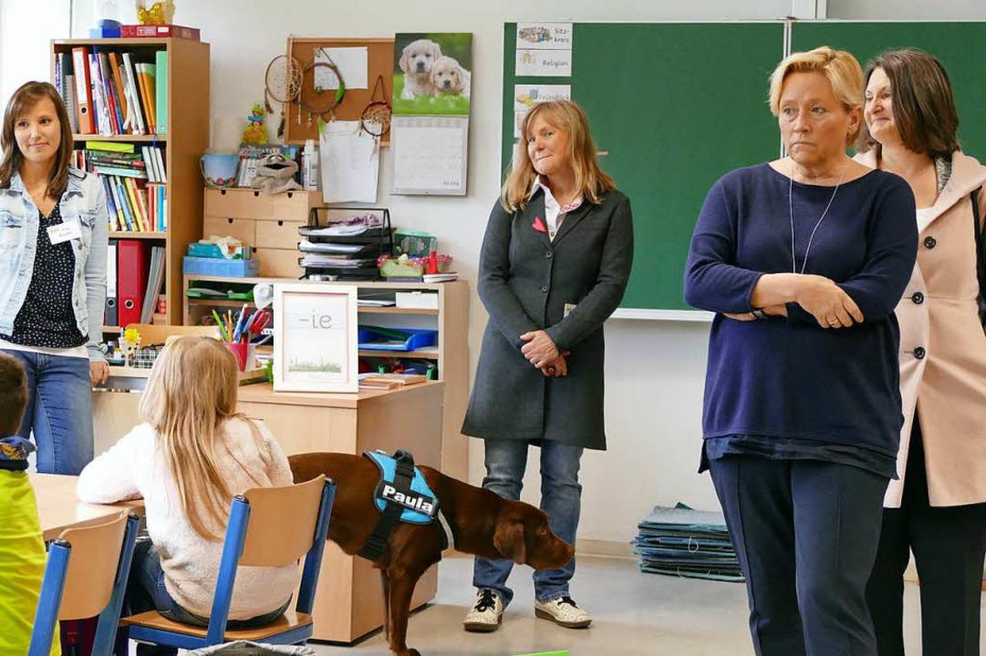 Aufgeschlossene und offene Schüler erl... bei ihrem Besuch in der Goetheschule.    Foto: Ingrid Böhm-Jacob