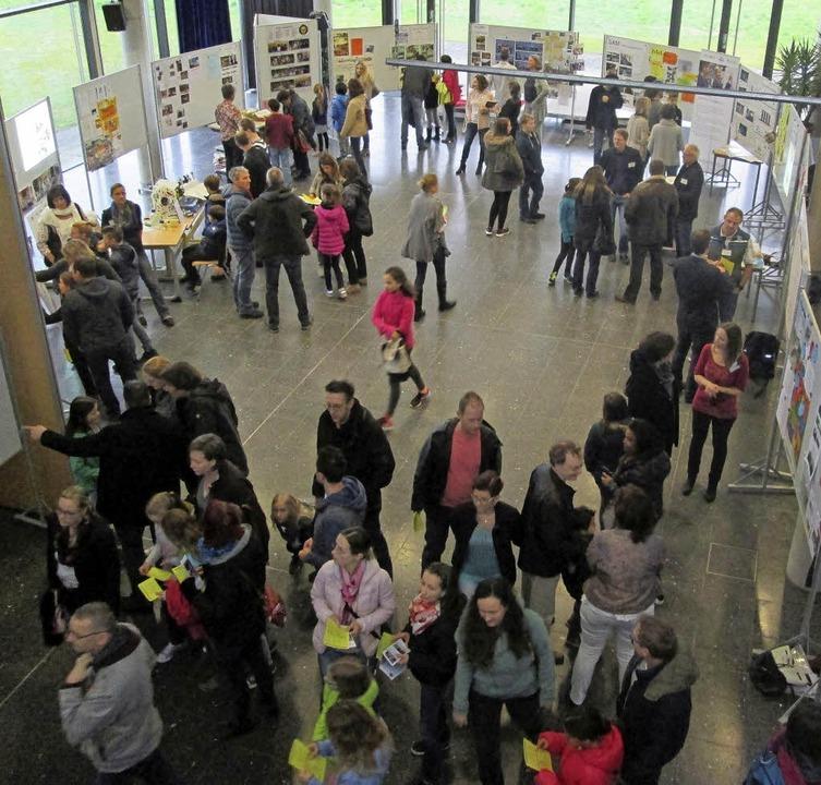 Einen ersten Überblick über die schuli...8220; in der Aula des Kreisgymnasiums.  | Foto: Privat
