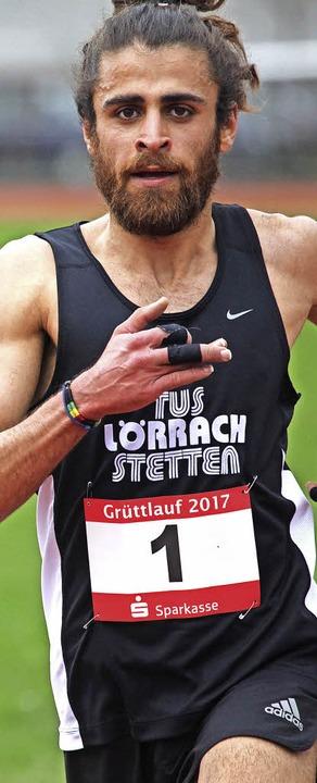 Platz für Jutebeutel gesucht: Seriensieger Omar Tareq vom TuS Lörrach-Stetten   | Foto: Uwe Rogowski