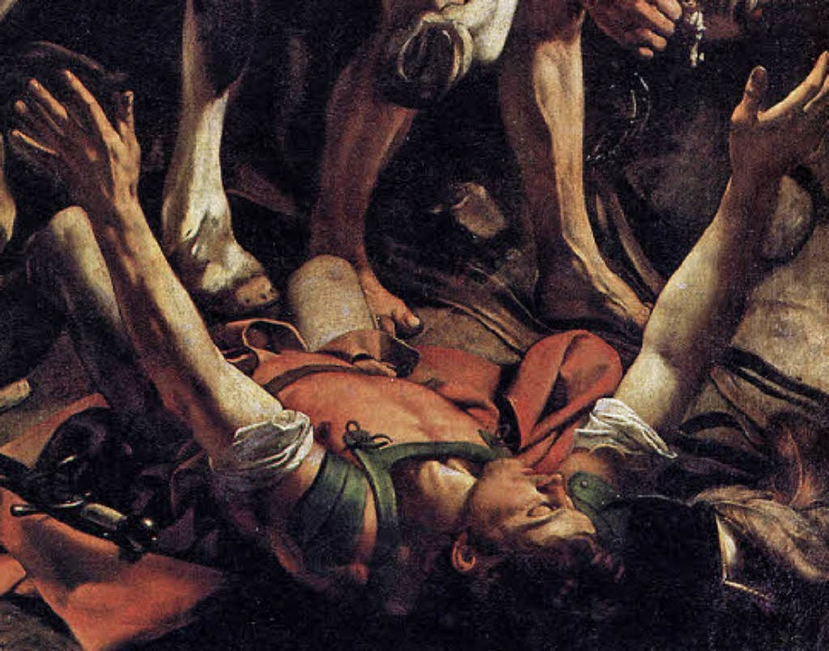 "Dramatisch: Caravaggios ""Bekehrung des Saulus"", Ausschnitt (1600/01)  | Foto: Repro: BZ"