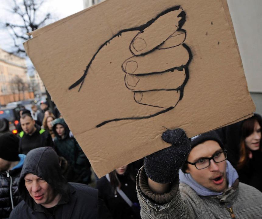 Demonstration in Minsk  | Foto: AFP