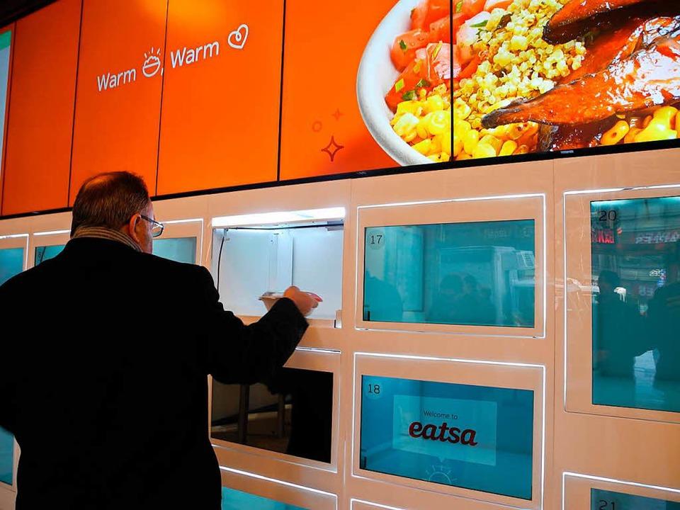 Ist Eatsa das Restaurant der Zukunft?  | Foto: Johannes Schmitt-Tegge (dpa)