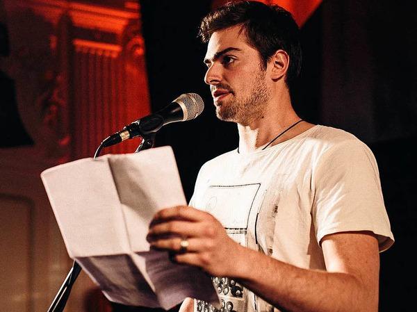 """Jonathan Löffelbein (25) ist Slam-Poet und Autor (""""Besucher: eine unzuverlässige Erzählung"""", erschienen bei kladdebuchverlag)."""