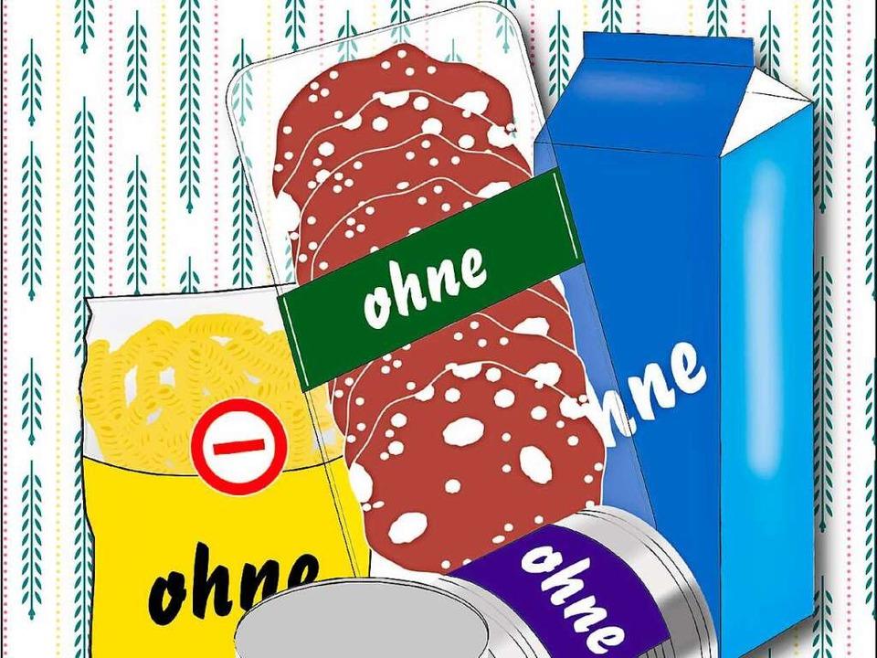 """""""Frei von"""" – die  richtige Kost für das Bauchgefühl?      Foto: Illustration: Rita Reiser"""