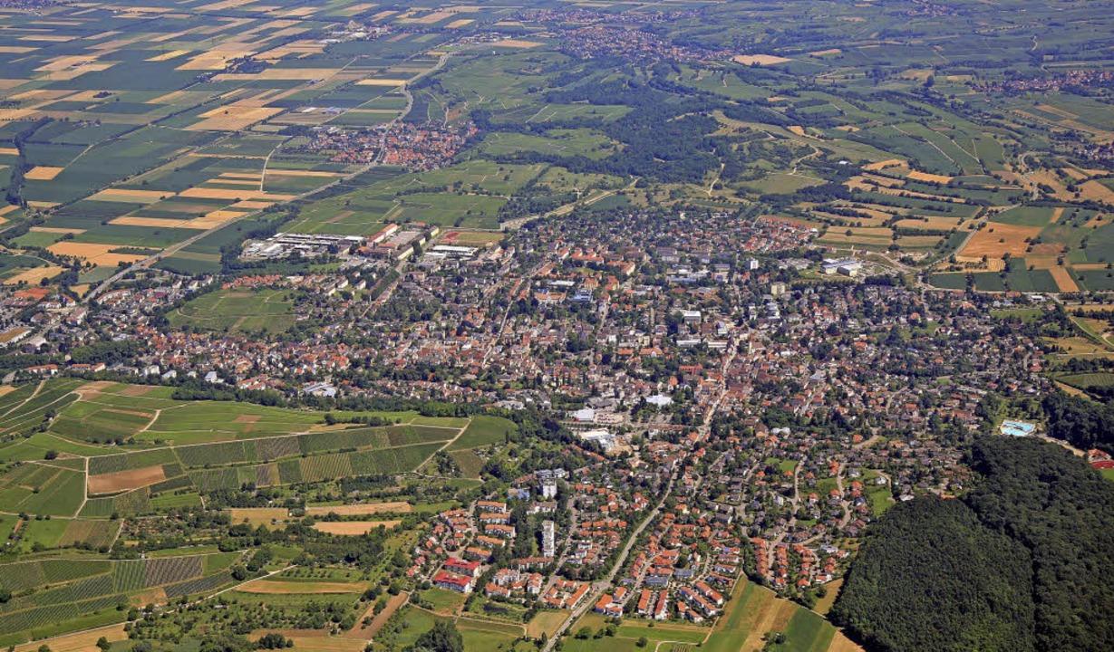 Müllheim wächst  weiter. Von daher zei...r 2008 nicht mehr den aktuellen Stand.  | Foto: Erich Meyer