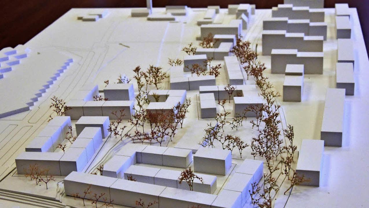 Nach diesem Modell soll das Quartier i...ächsten zehn Jahren entwickelt werden.  | Foto: Michael Bamberger