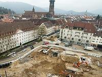 Fotos: Freiburgs zentrale Großbaustelle von oben
