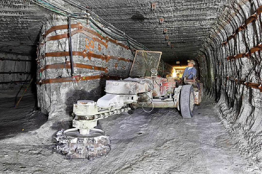 Bereits 100 Millionen Euro wurden vom ...n Stollens bei Wittelsheim investiert.    Foto: BZ