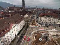 In Freiburg stoßen Bagger am Siegesdenkmal auf eine alte Bastion