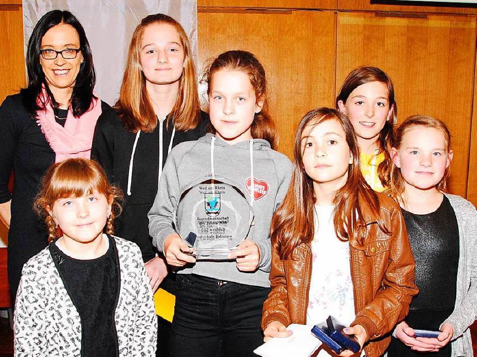 Jugendmannschaft des Jahres: die Haltinger Judo-Mädchen U12  | Foto: Norbert Sedlak