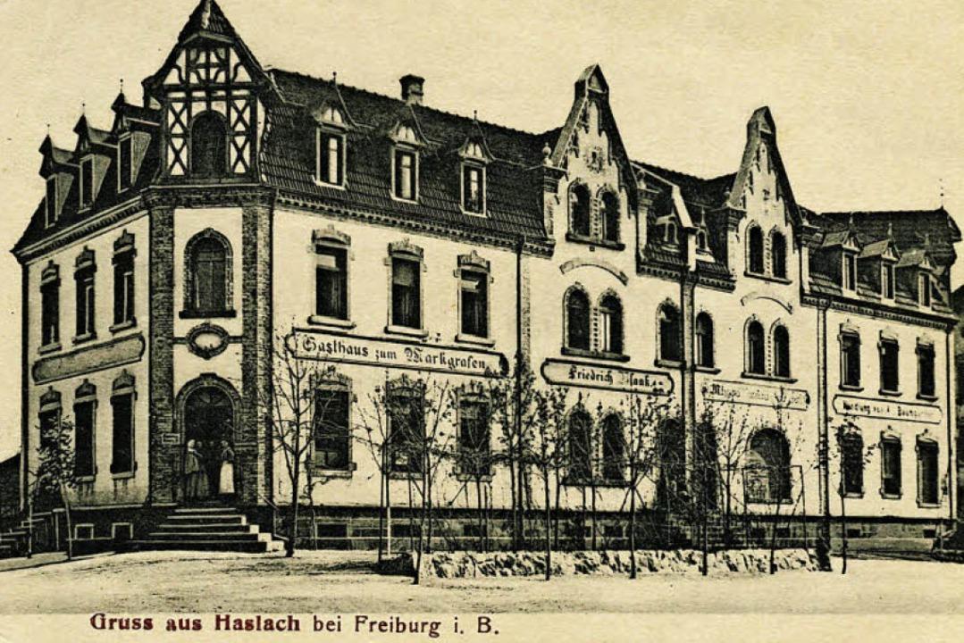 Den nach 1900 entstandenen Gebäudekomp...220; zeigt die historische Postkarte.   | Foto: Archiv Hans Oehler