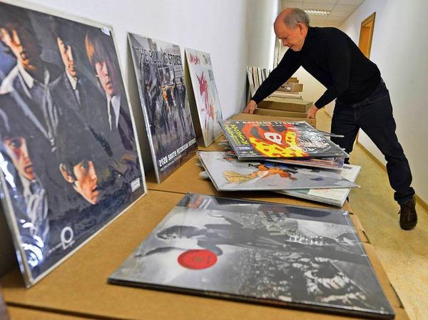15000 Tonträger umfasst die Sammlung von Reinhold Karpp.