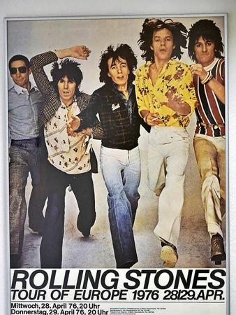Tourplakat von 1976