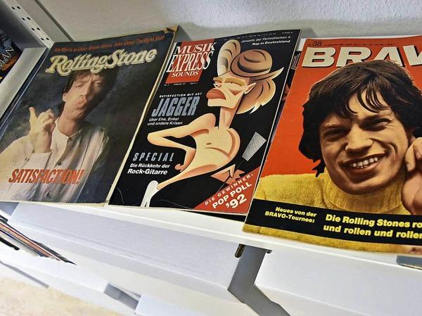 Zeitschriften mit Stones-Sänger Mick Jagger auf dem Titel