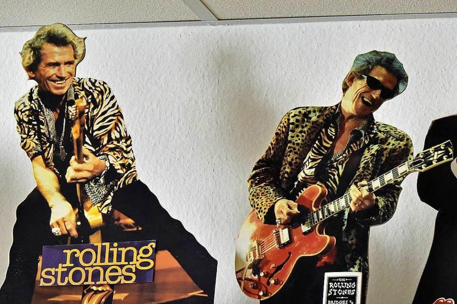 Die Rolling Stones als Pappkameraden (Foto: Michael Bamberger)