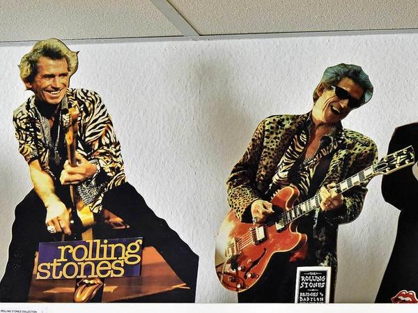 Die Rolling Stones als Pappkameraden