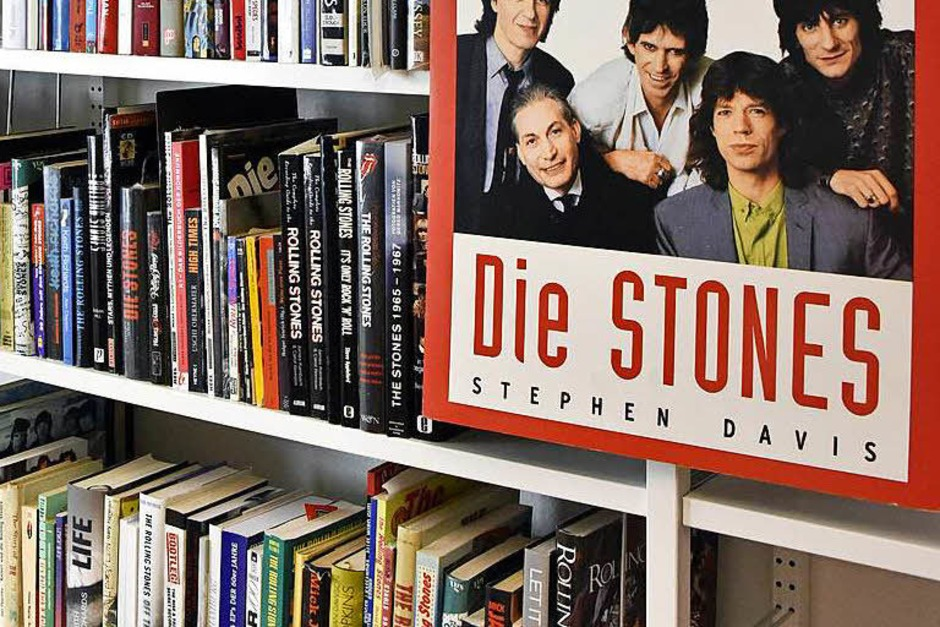 Reinhold Karpps Stones-Bibliothek (Foto: Michael Bamberger)
