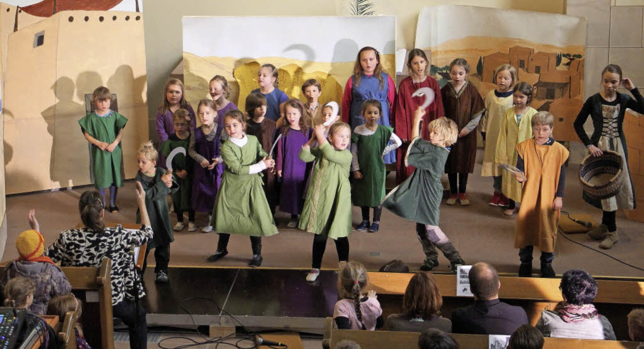 Ein Kindermusical rund ums Fremdsein p... am Freitag und Samstag in der Kirche.  | Foto: Ruth Seitz
