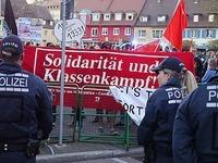 100 Demonstranten protestieren gegen AfD-Veranstaltung