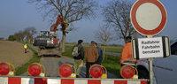Baumfällarbeiten an der Kreisstraße