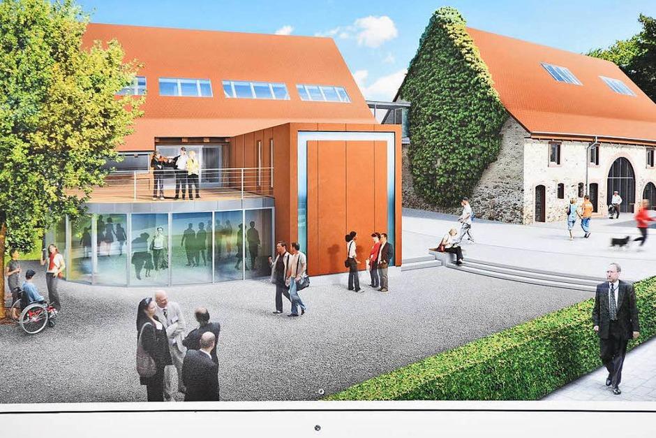 Visualisierung der Pläne für den Umbau der Gemeindescheunen (Foto: Markus Donner)