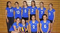 Meisterliche Volleyballerinnen