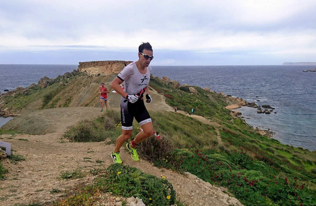 <BZ-FotoAnlauf>X-Terra-World-Tour: </B...auer feierte sein Comeback auf Malta.   | Foto:  Privat