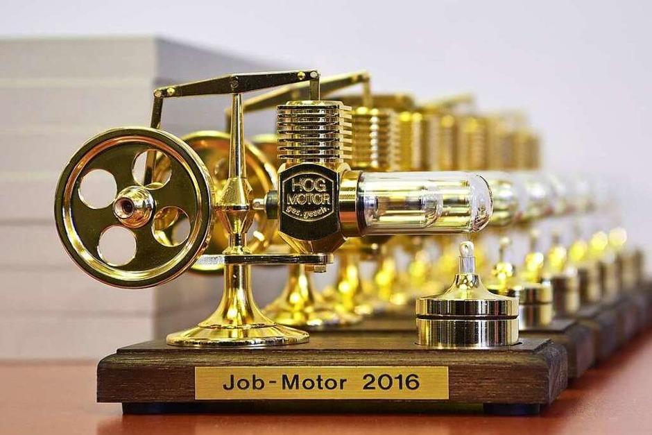 Der Jobmotor-Preis: ein Stirling-Motor (Foto: Thomas Kunz)