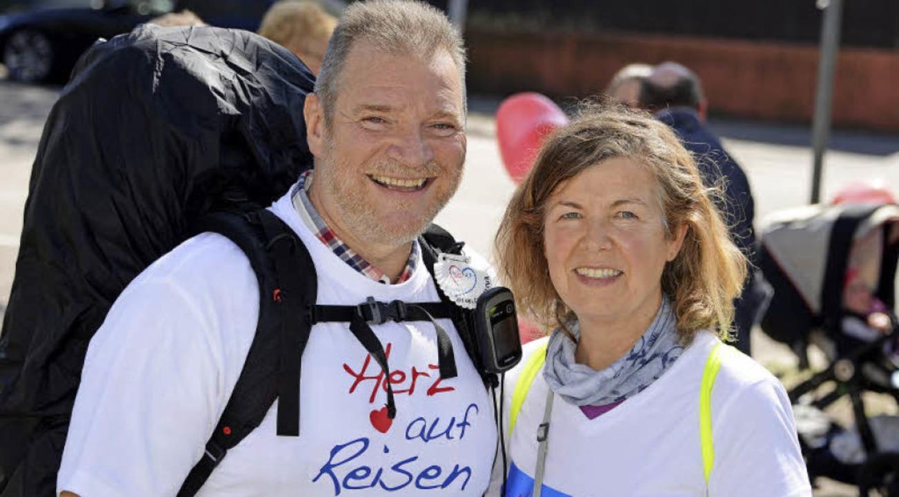 Von Kiel nach Freiburg mit Abstechern:...ilometer für herzkranke Kinder laufen.  | Foto: Rita Eggstein
