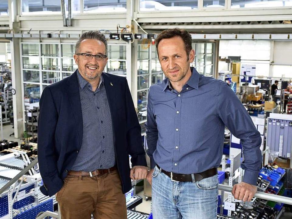 Geschäftsführer Daniel (l.) und Joachim Huber    Foto: Thomas Kunz