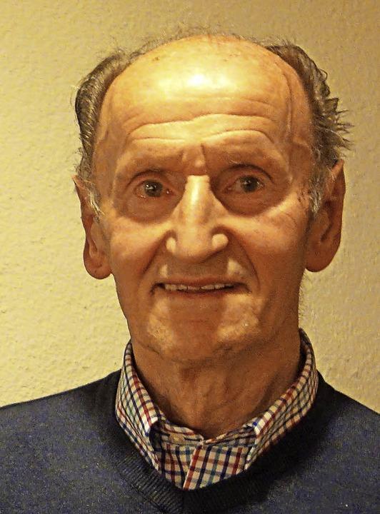 Richard Baschnagel feiert seine 70-jährige Mitgliedschaft beim FC Weizen.  | Foto: Andreas Mahler