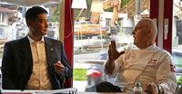 Unterwegs im Wahlkampf mit Kandidat... Markus Hollemann