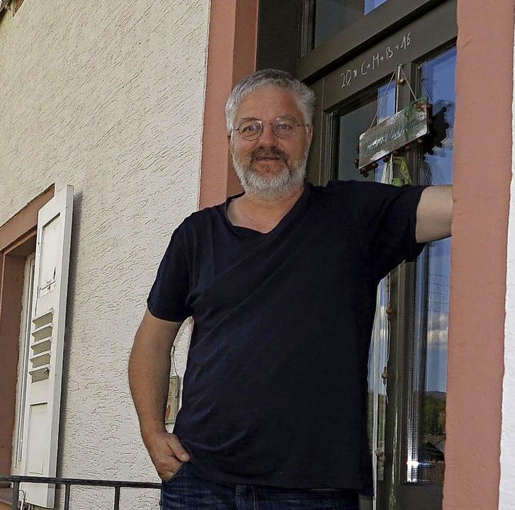 """""""Ich könnte als Pfarrer an einem...e"""", sagt Pfarrer Ralf Otterbach     Foto: Dorothee Philipp"""
