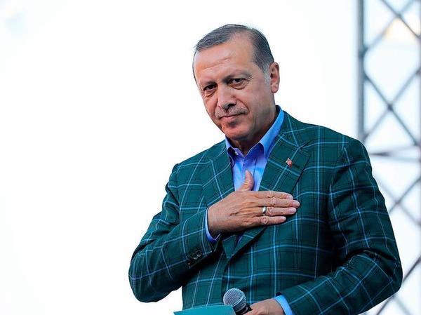 Erdogan beim Wahlkampfabschluss