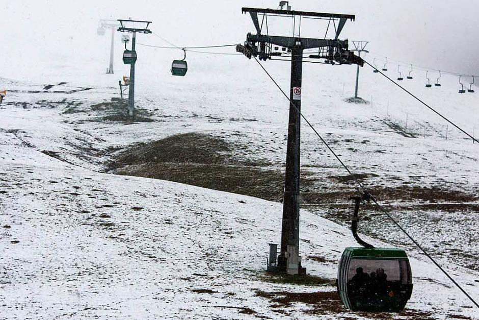 Auch auf dem Feldberg liegt Schnee. (Foto: dpa)