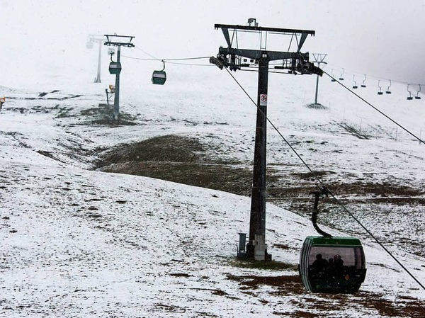 Auch auf dem Feldberg liegt Schnee.