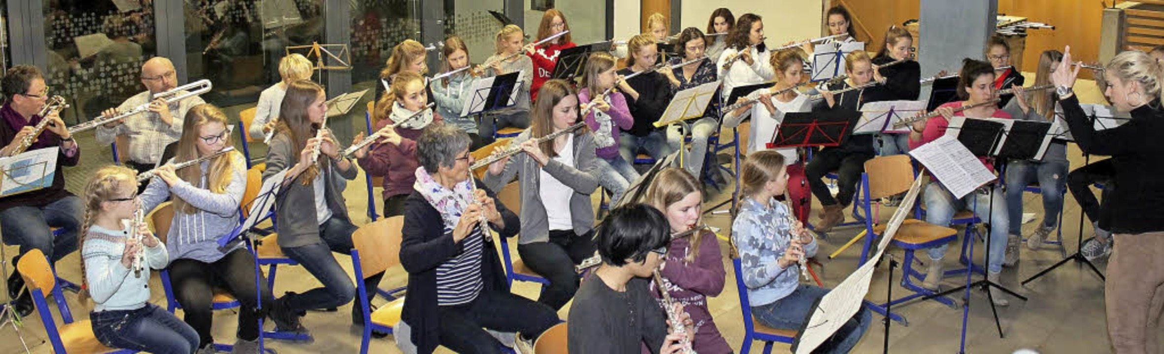 Querflötenensemble Flautissimo    Foto: Pro